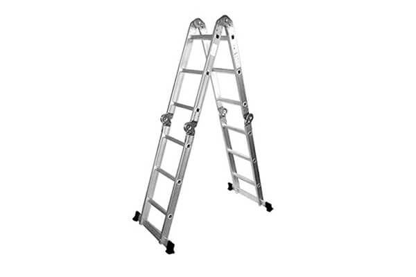 Aleko Fl 12 Multi Purpose Position 12 Step Aluminum Folding Ladder Ladder Folding Ladder Aluminum