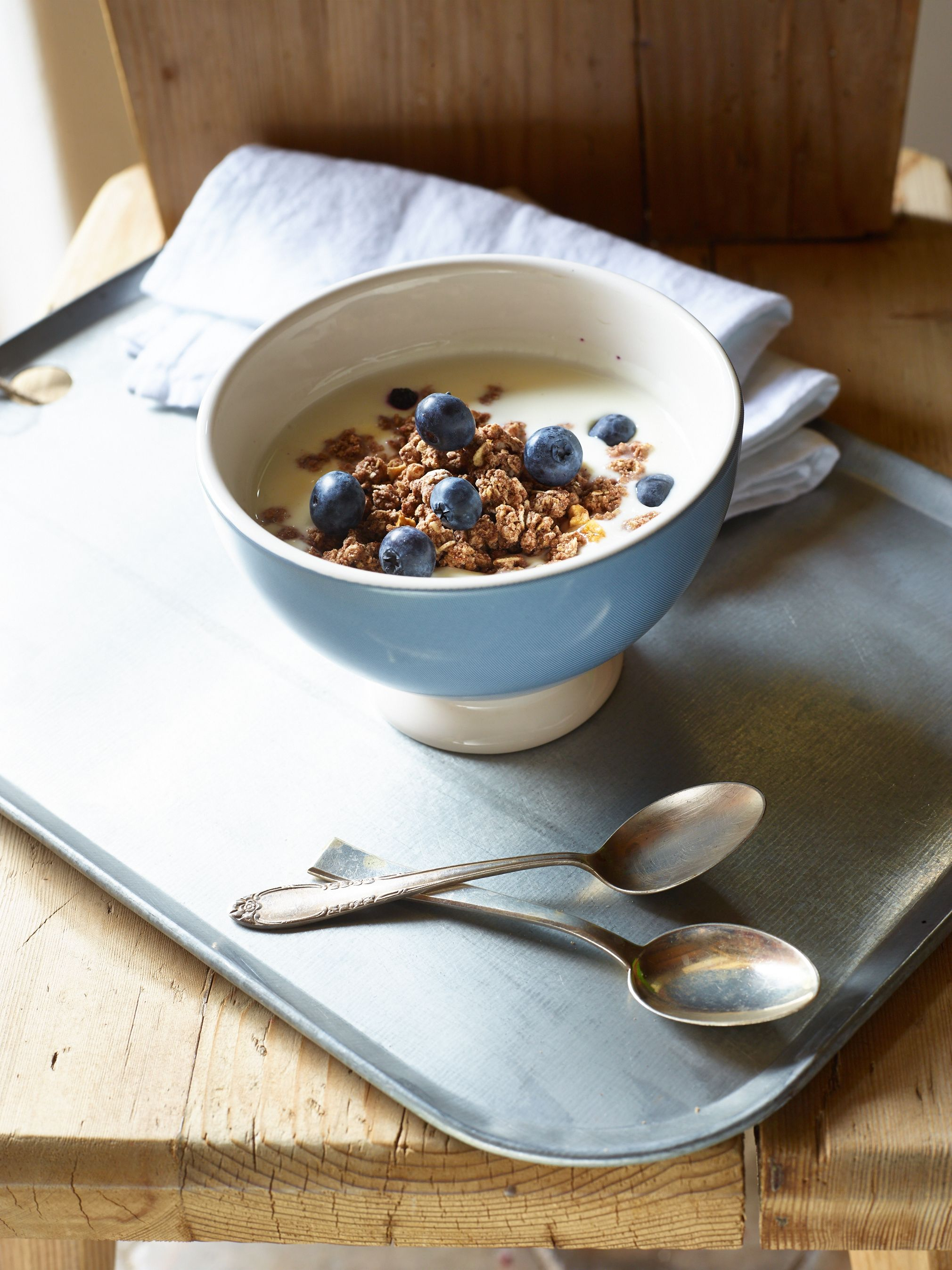 Crunchy Müsli Rezept Crunchy Muesli With Blueberries And Apple #breakfast, #