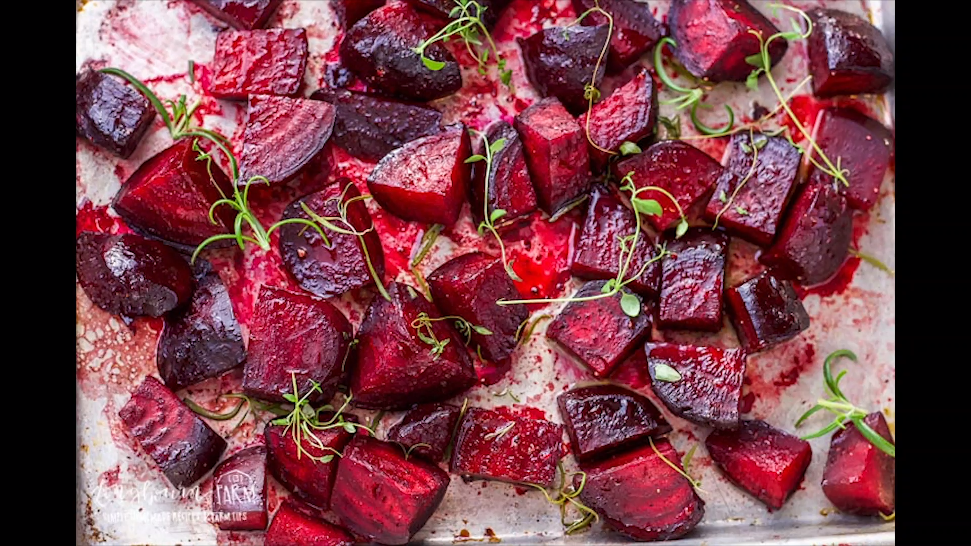 Oven Roasted Beets with Balsamic Glaze