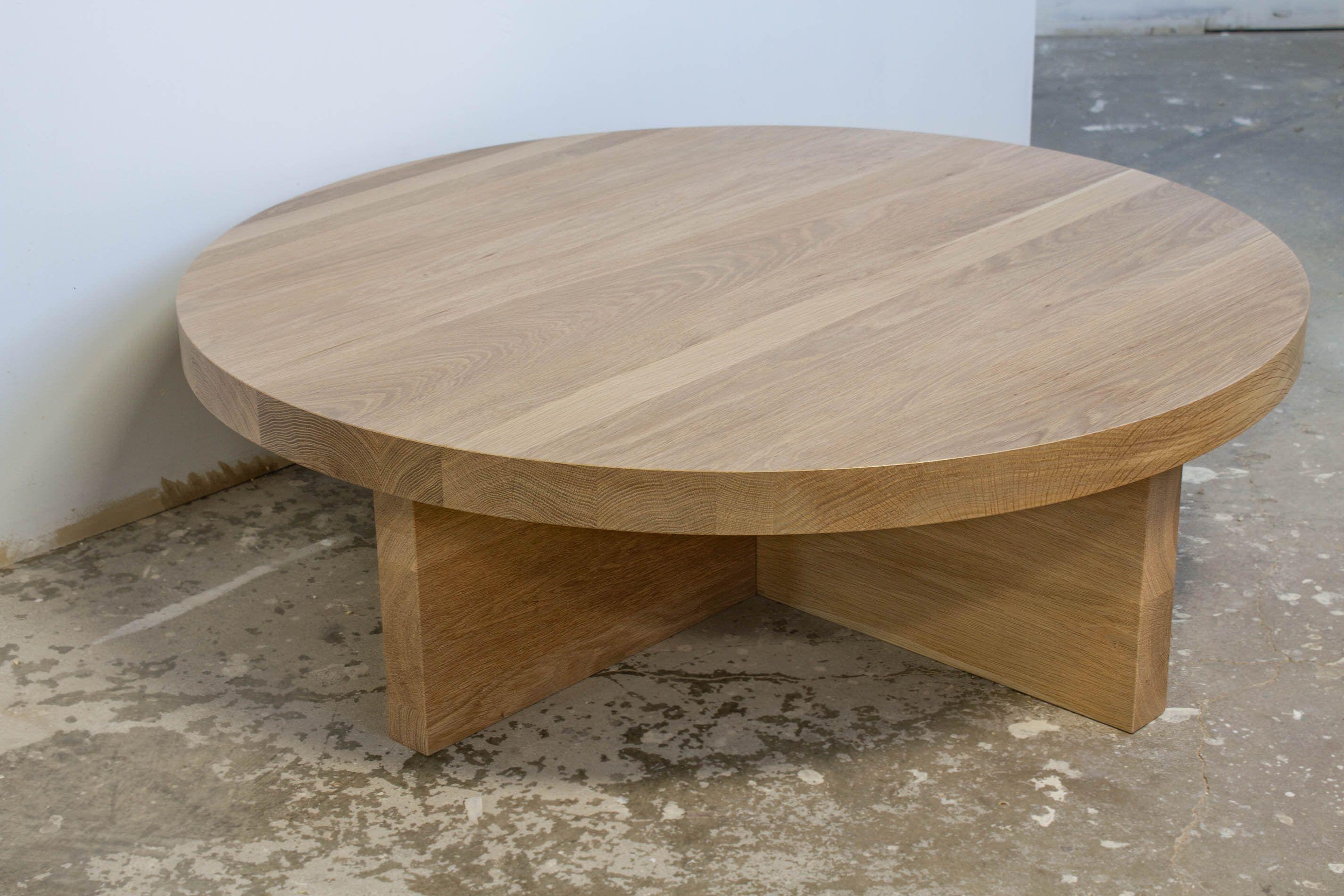 White Oak Coffee Table Round Free Shipping Designed With Etsy Round Wood Coffee Table Coffee Table Furniture Design Coffee Table [ 1900 x 2850 Pixel ]
