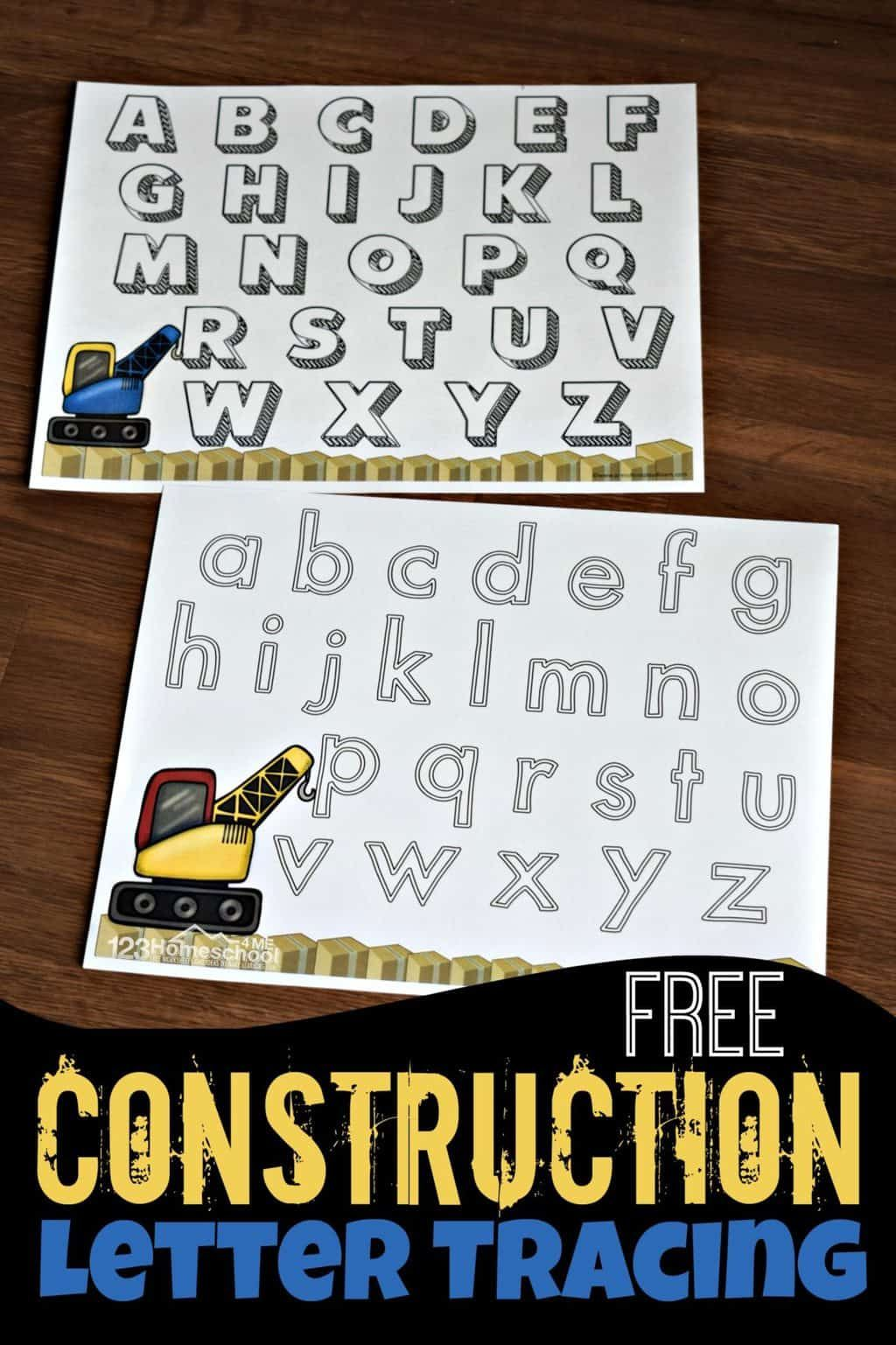 Free Construction Theme Letter Tracing Worksheets Construction Activities Preschool Construction Theme Preschool Preschool Construction [ 1537 x 1024 Pixel ]