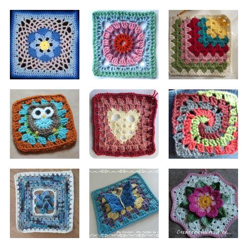 10 Patrones Gratis Granny Square Crochet | La mano firme | Granny ...