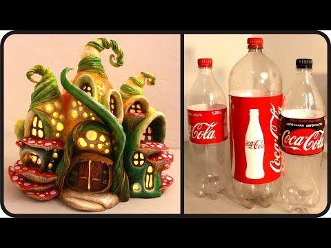 diy enchanted fairy house lamp using coke plastic bottles. Black Bedroom Furniture Sets. Home Design Ideas