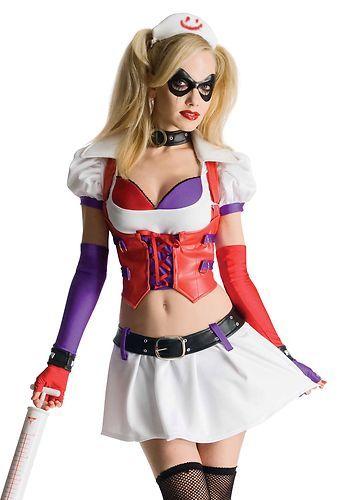 Womens Harley Quinn Halloween Costume Dress Cape /& Mask