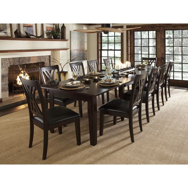 asha 11-piece solid wood dining set | solid wood dining set, solid