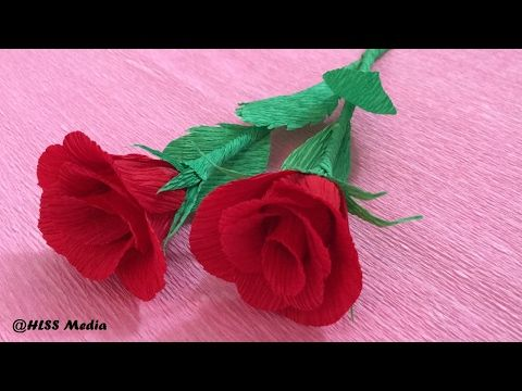 How to make diy hibiscus crepe paper flower tutorialshibiscus how to make diy hibiscus crepe paper flower tutorialshibiscus flower origami craft tutorial youtube mightylinksfo