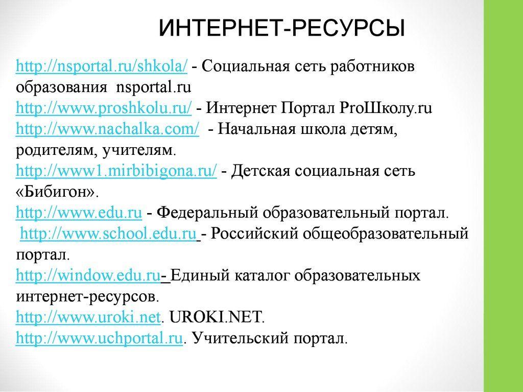 Nsportal.ru начальная школа