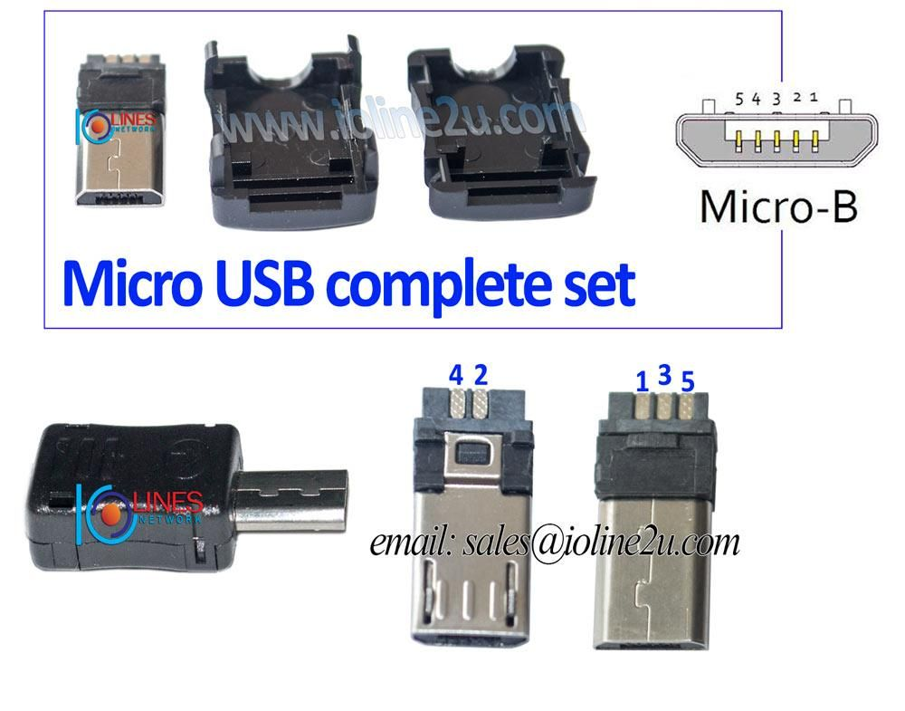 Diy Usb Cable Extension Cable Soldering Type Micro Usb Male Connector Usb Electronics Circuit Micro Usb