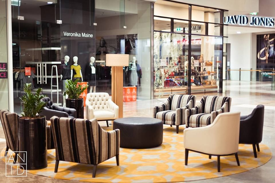 Robina Town Centre Mall Furniture Upgrade, designed and installed by Alexa  Nice Interior Design.