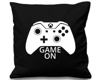 Game On Gamer Cushion Pillow Gaming Xbox Christmas Gift Birthday Present Console Pc Cod Battlefield Gaming Pillow Boys Game Room Game Room Design