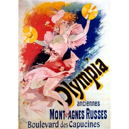 Vintage advertising art | Vintage French Advertising Art Poster Olympia