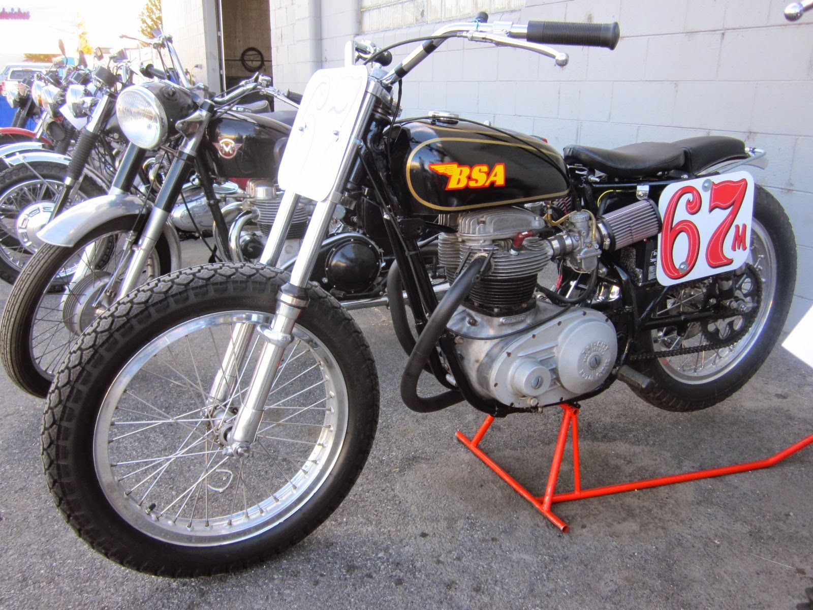 Oldmotodude bsa flat tracker voted best british at the 2014 retro riders vintage motorcycle show pasco wa