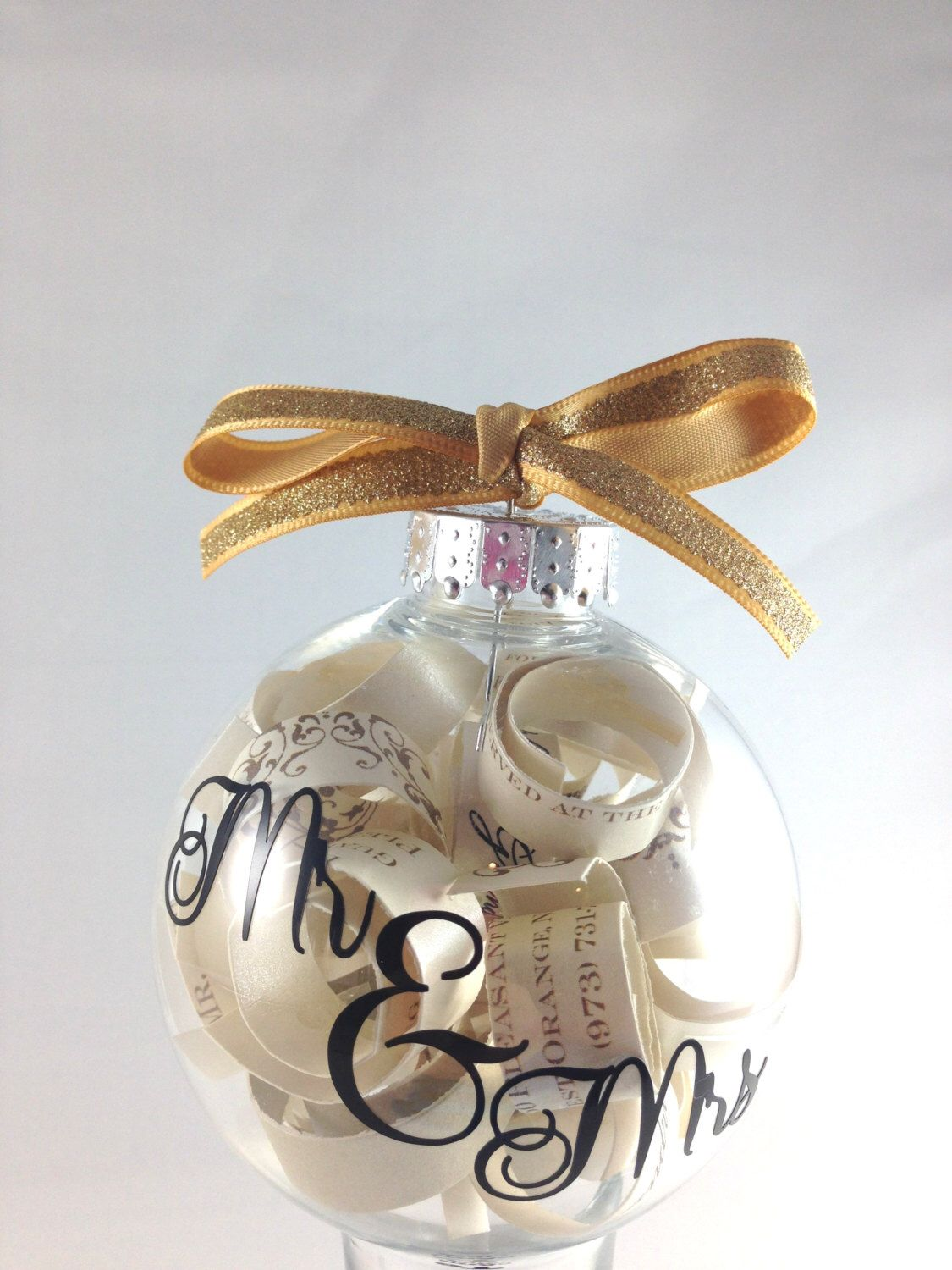 Christmas tree ornament, engagement gift, Wedding Invitation ...