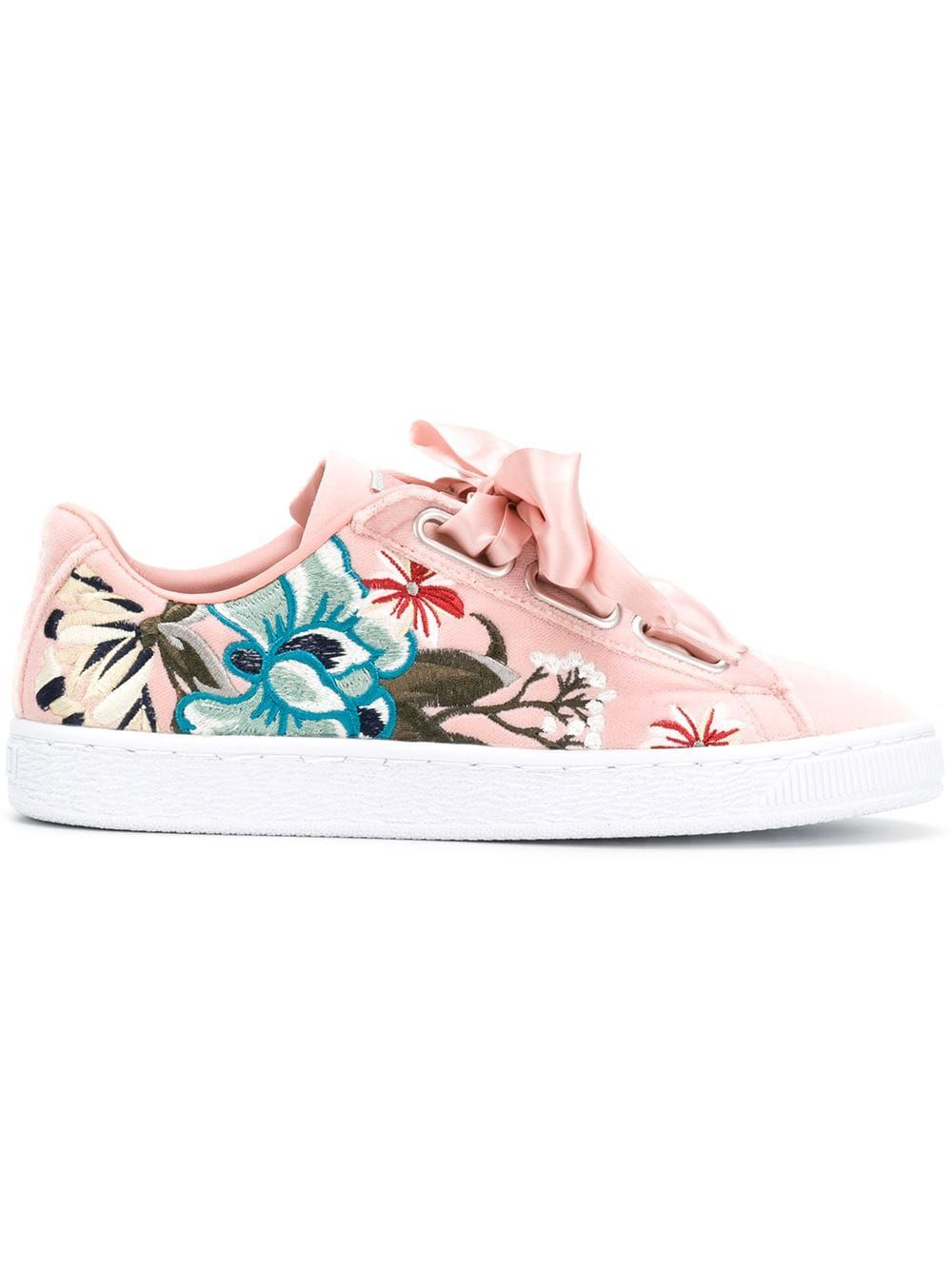 Puma Embroidered Floral Low Top