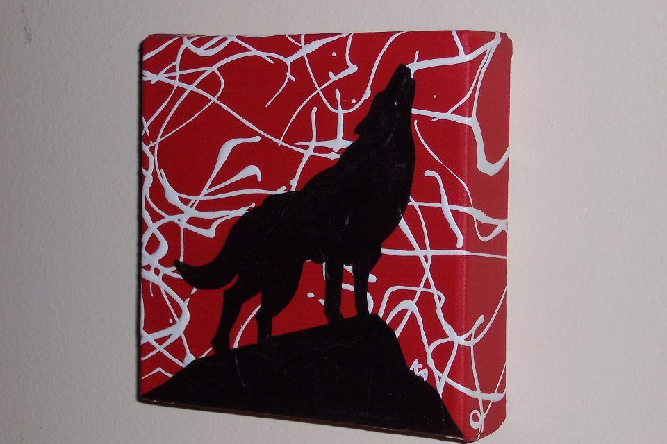 Pin By Christian Simmons On Nc State Wolfpack With State Canvas Painting State Canvas Diy Canvas Art