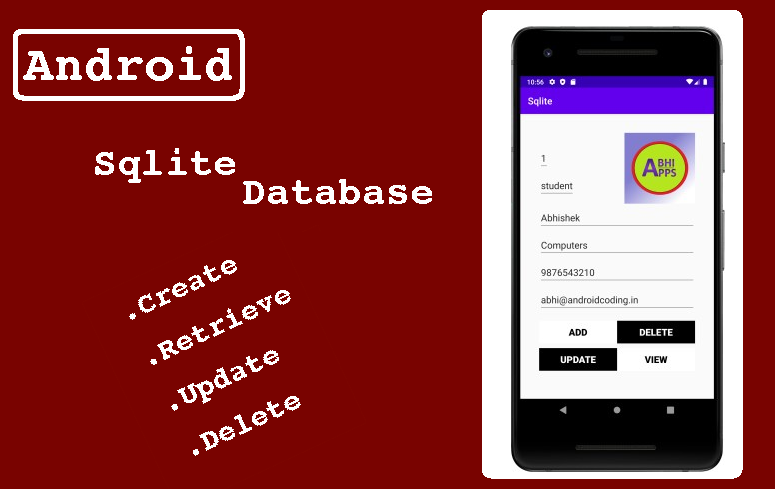 Android Sqlite Database Crud Operations Android Tutorials Android Android Application Development
