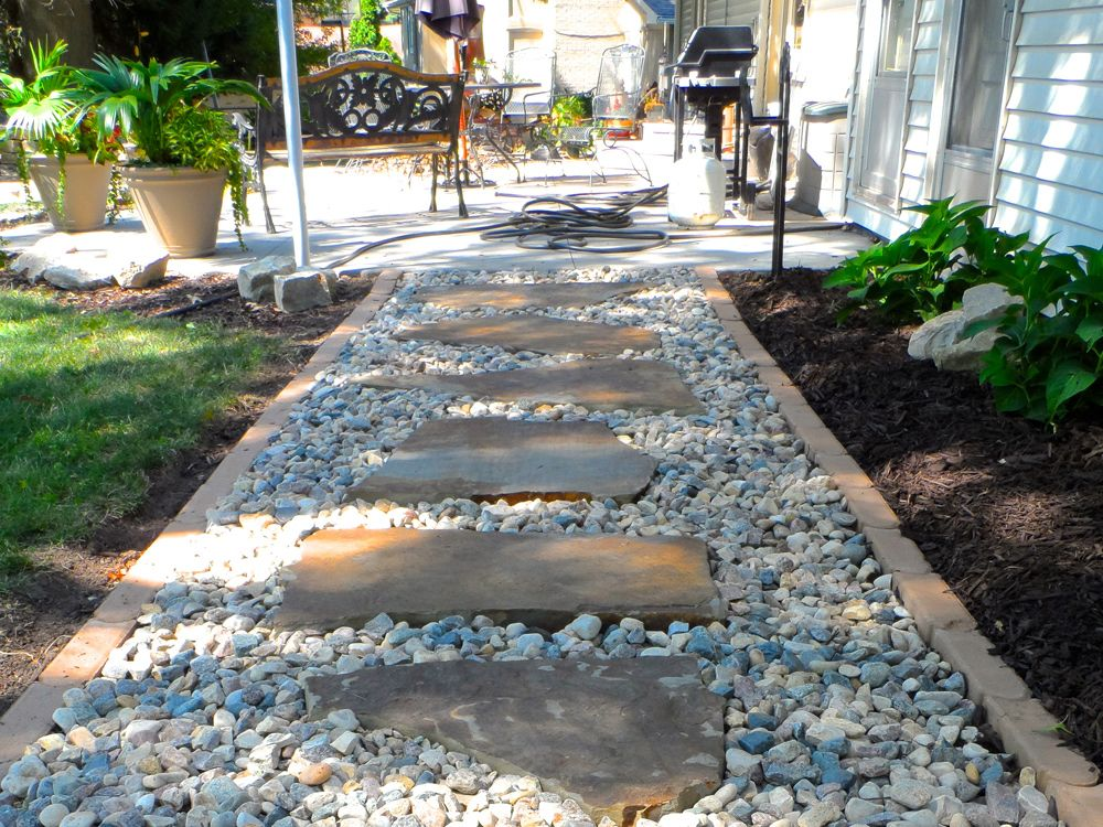 The use of edging can help homeowners with mowing for Gravel path edging ideas