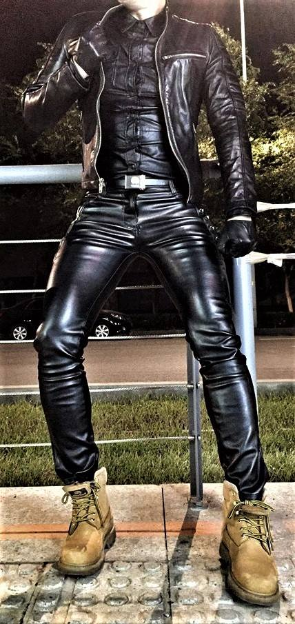 Men in leather pants