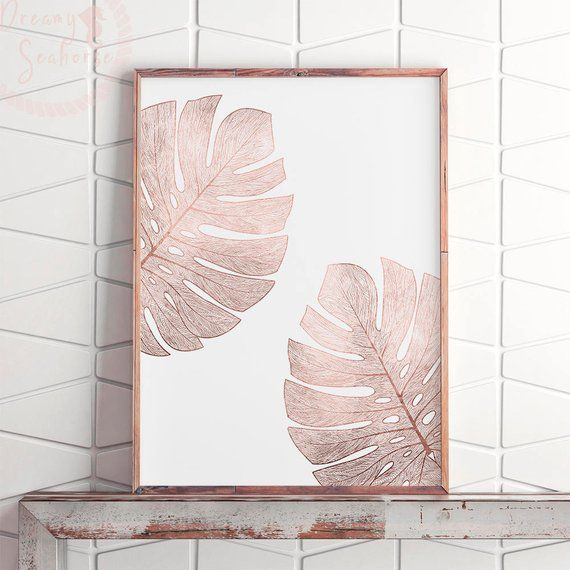 Pink Gold Modern Art, Printable Rose Gold Wall Art, Minimalist Large Art, Pink Gold Bedroom Art, Rose Gold Print Art, Rose Gold Poster Art is part of bedroom Art Printables - DreamySeahorse section id 21419778