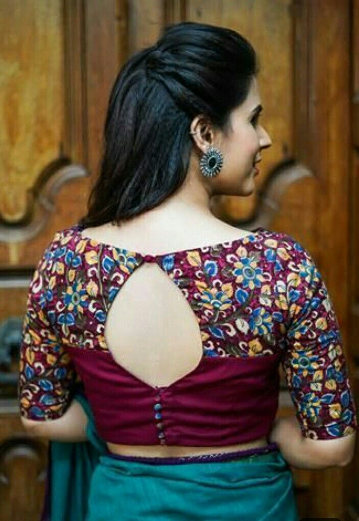 Beautiful blouse back designs Indian, visit to see.