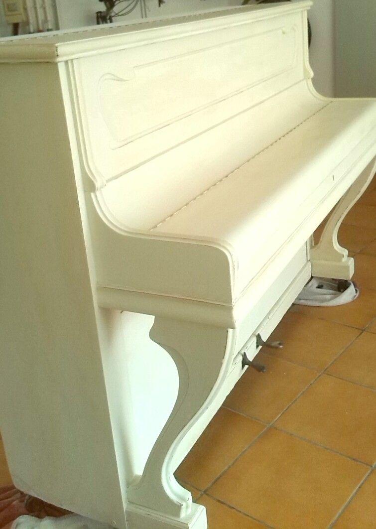 Piano Pintado Con Chalk Paint Mis Restauraciones Pinterest  ~ Pintar Muebles De Melamina Sin Lijar