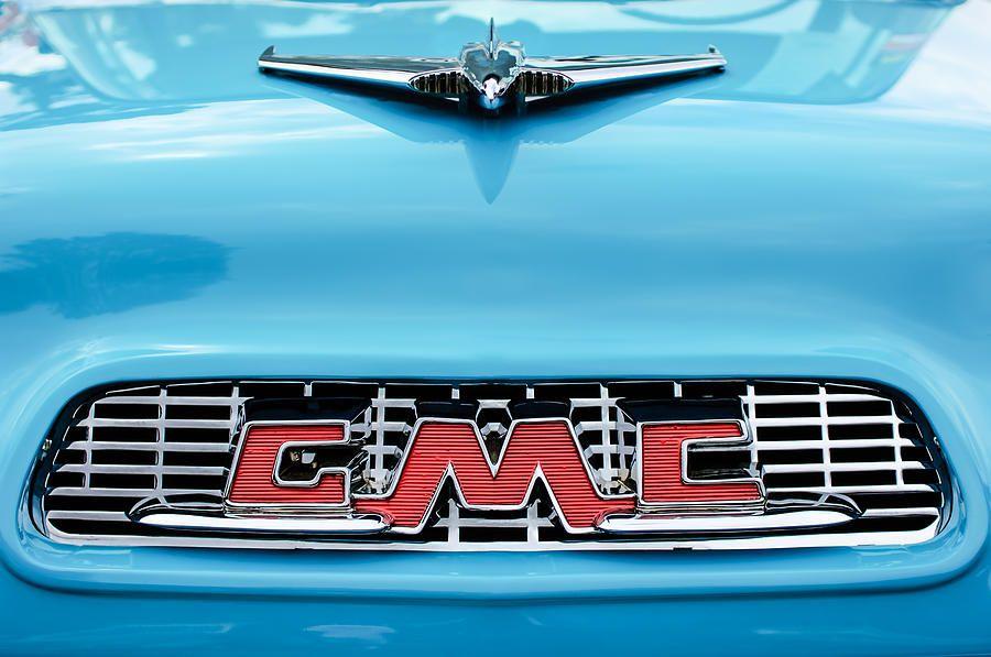 1956 Gmc 100 Deluxe Edition Pickup Truck Hood Ornament Grille Emblem By Jill Reger Hood Ornaments Trucks Gmc