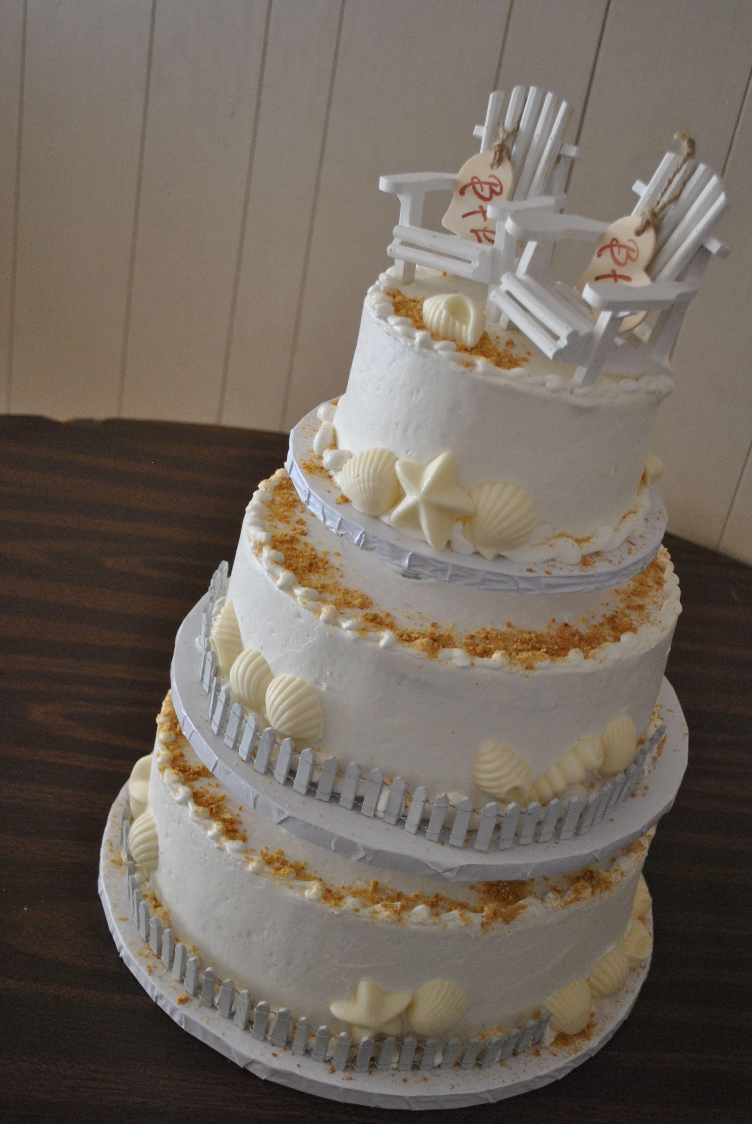 Absolutely Love This Summer Wedding Cake Idea Ocean Cakes