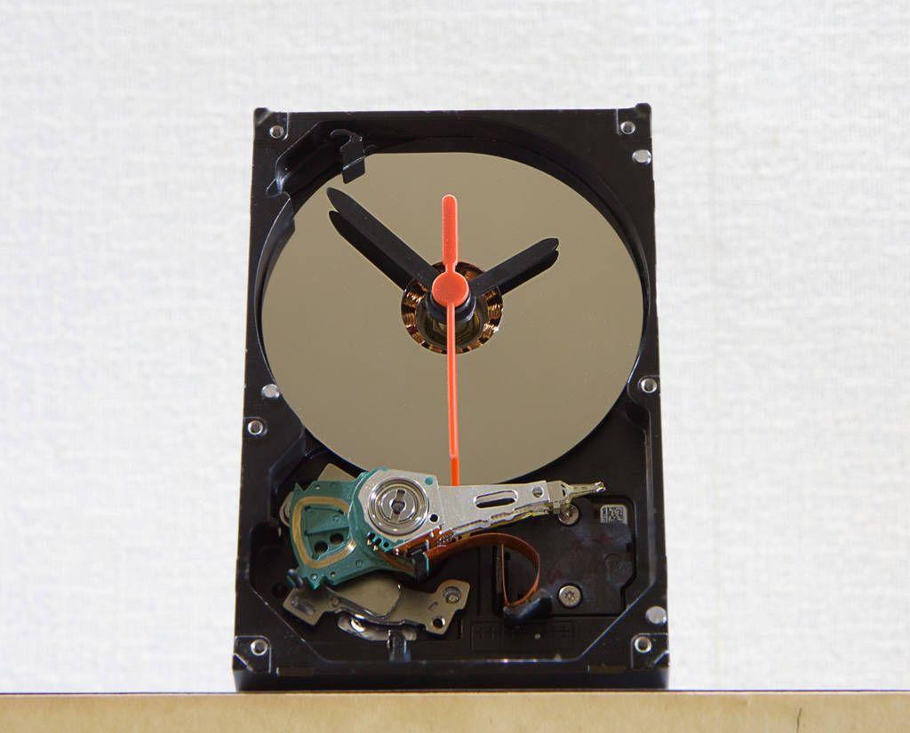 Mini desk clock Circuit board art Unique desk clocks