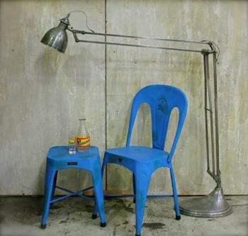 Industrial style metal chair - Le Forge