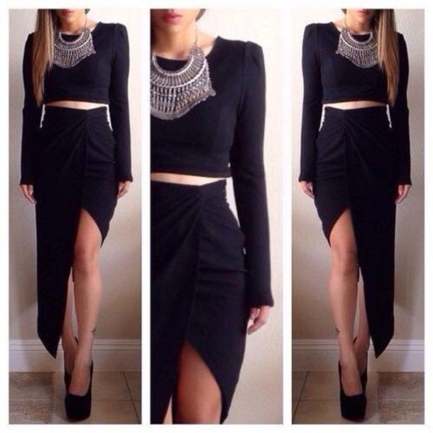 Skirt, $28 at lushfox.com - Wheretoget | Skirt crop top, Formal ...