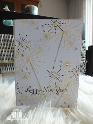 magical scrapworld happy new year cards its a celebration new year stampin up