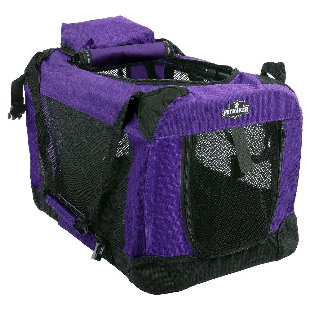 Petmaker Portable Soft Sided Pet Crate 20 x 12 inches - Purple