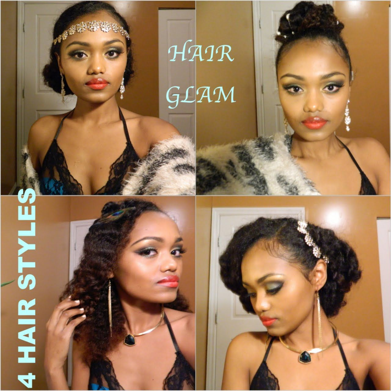 The Great Gatsby Inspired 4 Hair Styles 5 Min Or Less No Heat Great Gatsby Hairstyles Gatsby Hair Hair Styles