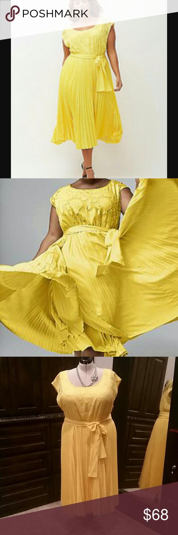 NEW! Lane Bryant size 22/24 beautiful yellow dress New with ...