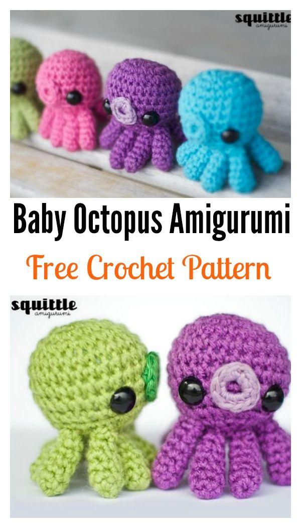 Amigurumi Octopus Baby Toy Free Crochet Pattern   Vestidos para ...