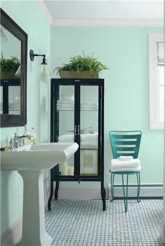 saved color selections | best bathroom paint colors