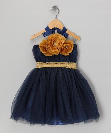 Take a look at this Navy & Gold Convertible Tutu Dress - Infant, Toddler & Girls by Bébé Oh La La on #zulily today!