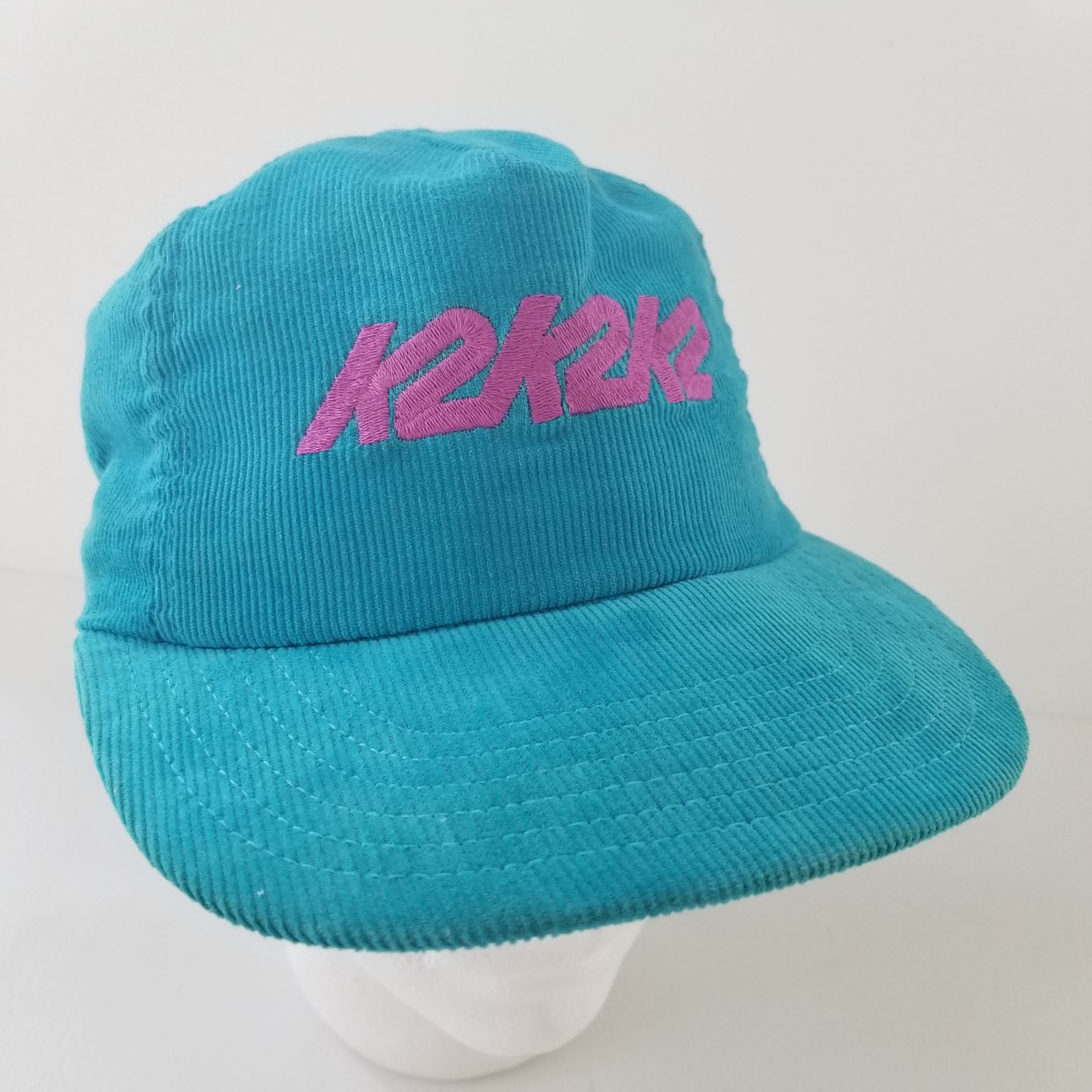 0fe9086b595 Vintage K2 Corduroy Trucker Hat Cap Snapback Teal Purple Made in the USA  Ski Snowboard by TraSheeWomen on Etsy  k2  ski  snowboard  vintage   truckerhat ...