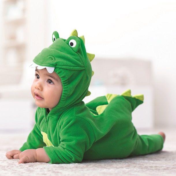 Dress Baby First Halloween Dinosaur Fleece Bubble