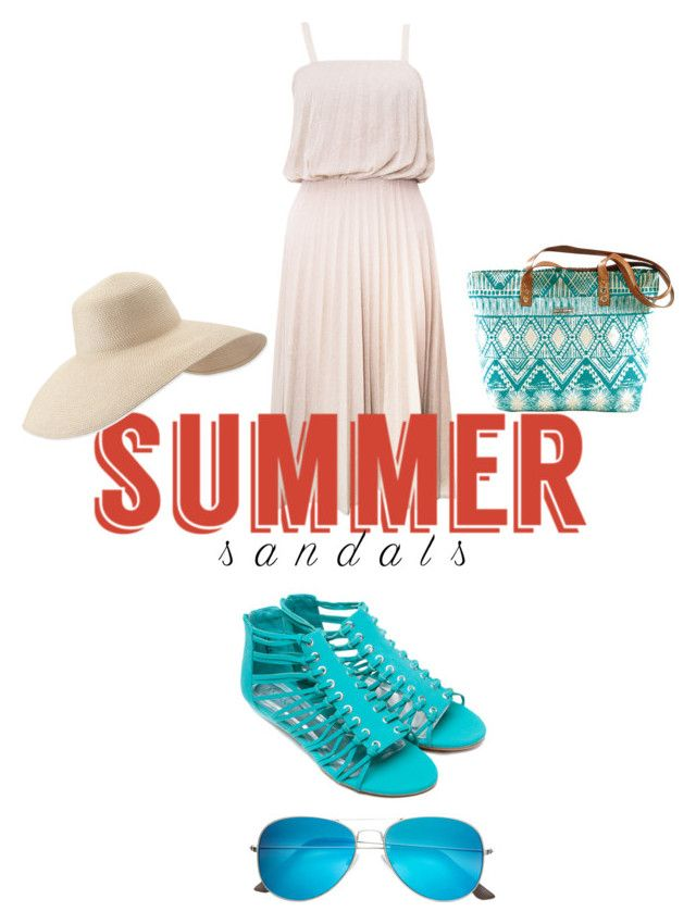 """Sandals"" by babe-b8 ❤ liked on Polyvore featuring Massimo, Eric Javits and summersandals"