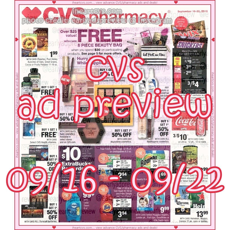 09/16 09/22 Cvs, Beauty bag, Ads