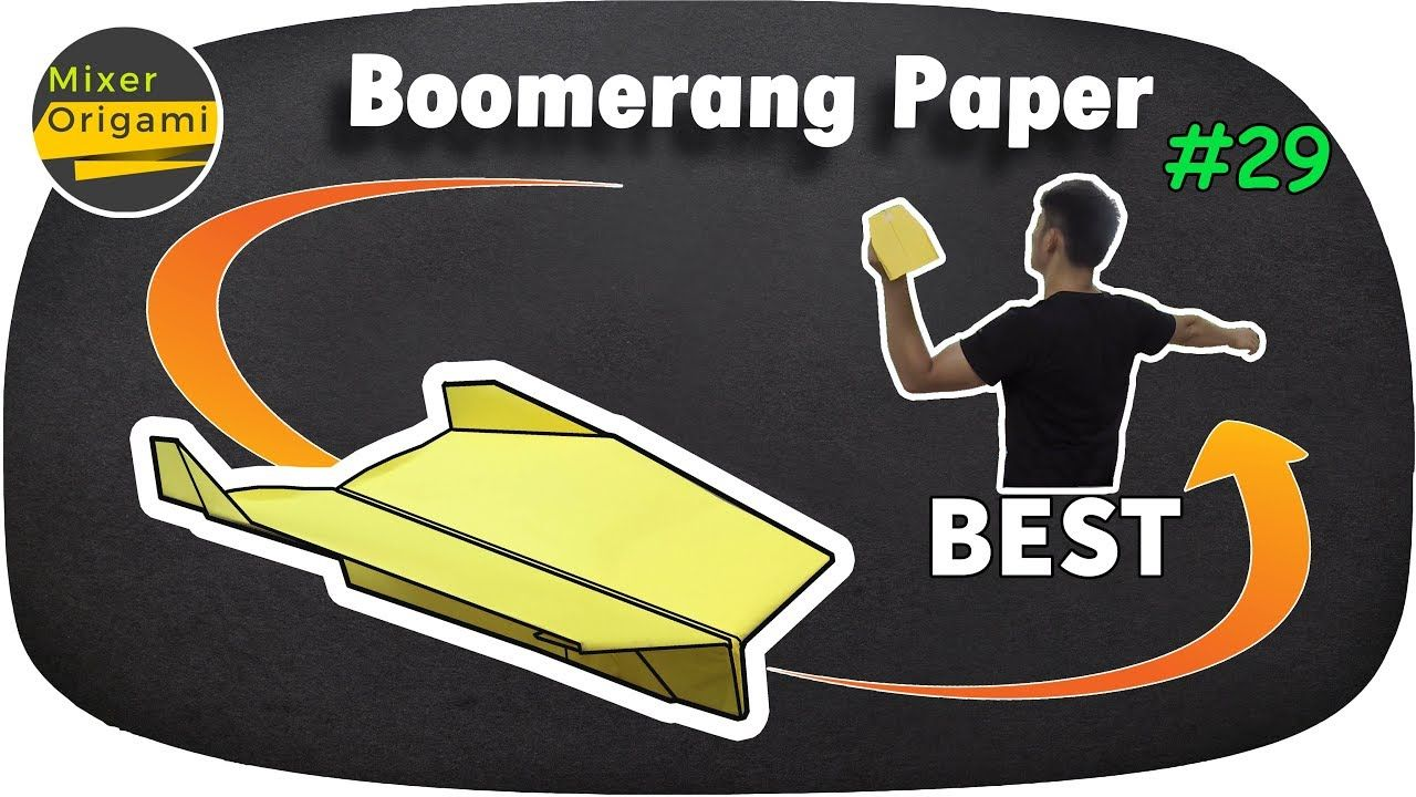 How to make a Paper plane Boomerang that COMES BACK TO YOU
