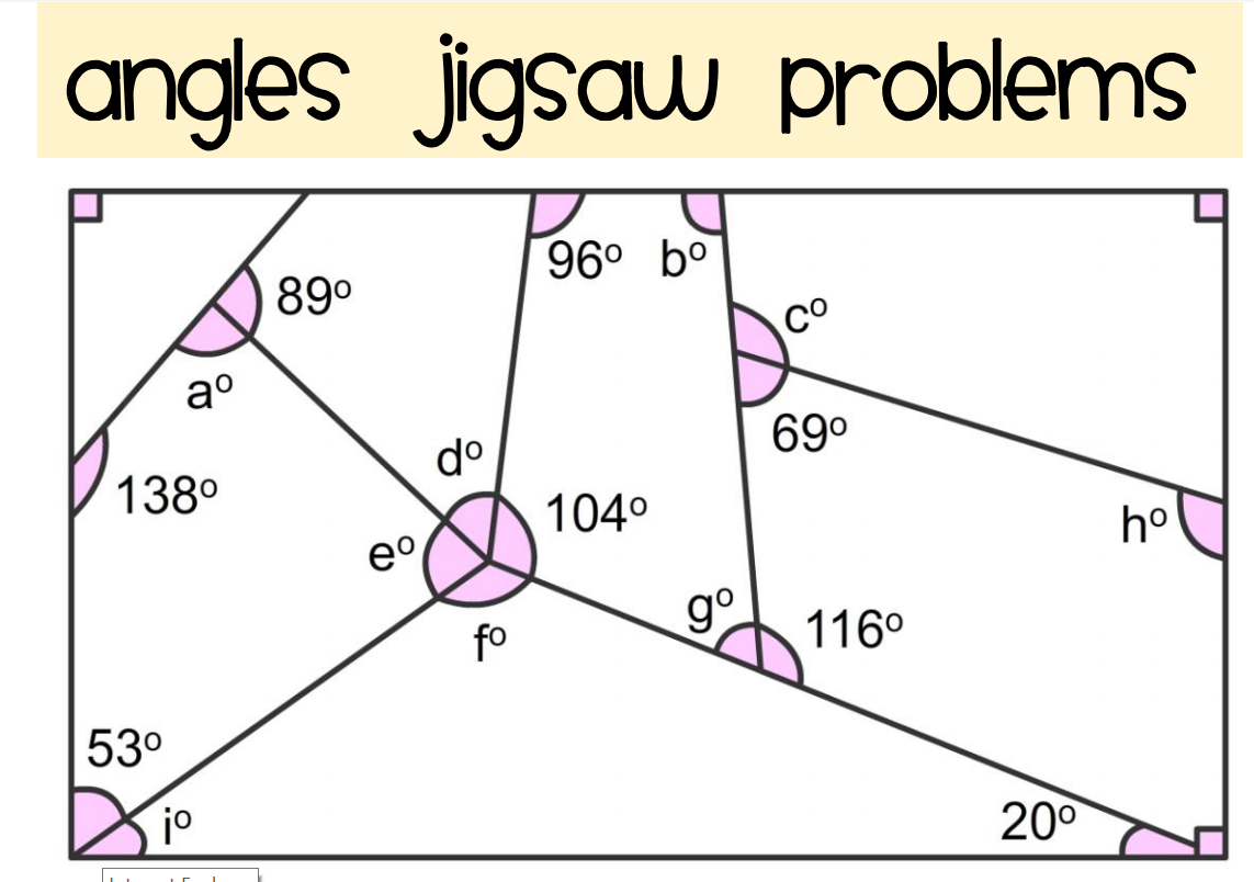 Find The Missing Angle Worksheet For 7th Grade