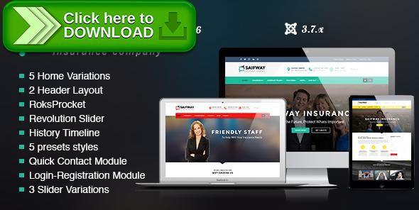 saifway-insurance-agency-html5-template  Free nulled SaifWay - Responsive Insurance Agency Joomla Template ...
