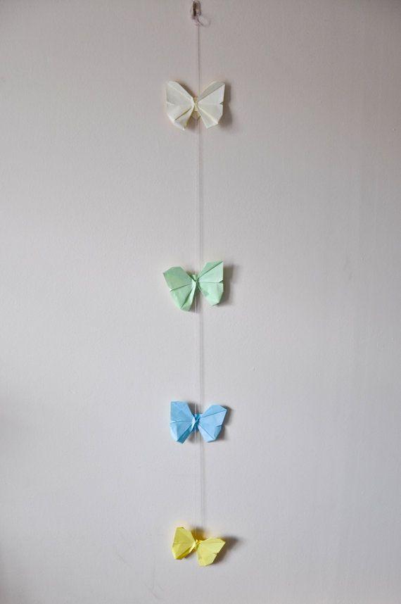 Mobile origami papillon 3D Wall Art papillon par thepersianmermaid ...