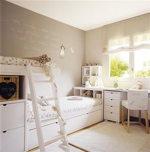 Frase en la pared, dibujo en silla,colores pared y muebles Deco - muebles de pared