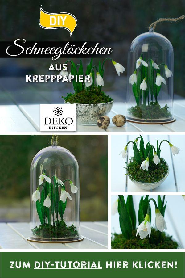 Photo of DIY: süße Frühlingsdeko mit Schneeglöckchen aus Krepppapier