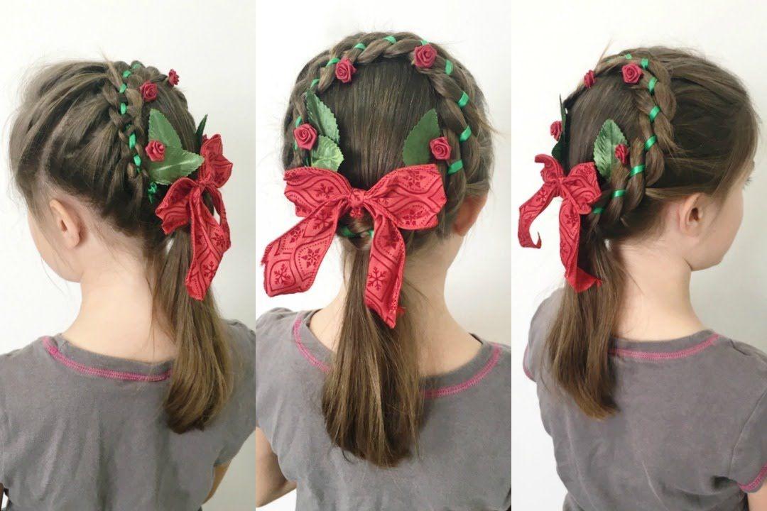 Christmas Wreath Braid Hairstyle 12 Braids Of Christmas Braided Hairstyles Crazy Hair Day At School Bridal Hair Headpiece