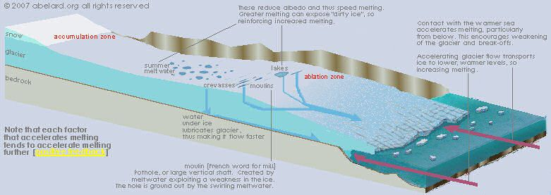 Diagram Showing Glacial Ice Evolution Melting And Slipping Away From The Bedrock Book Projects Block Diagram Antarctica