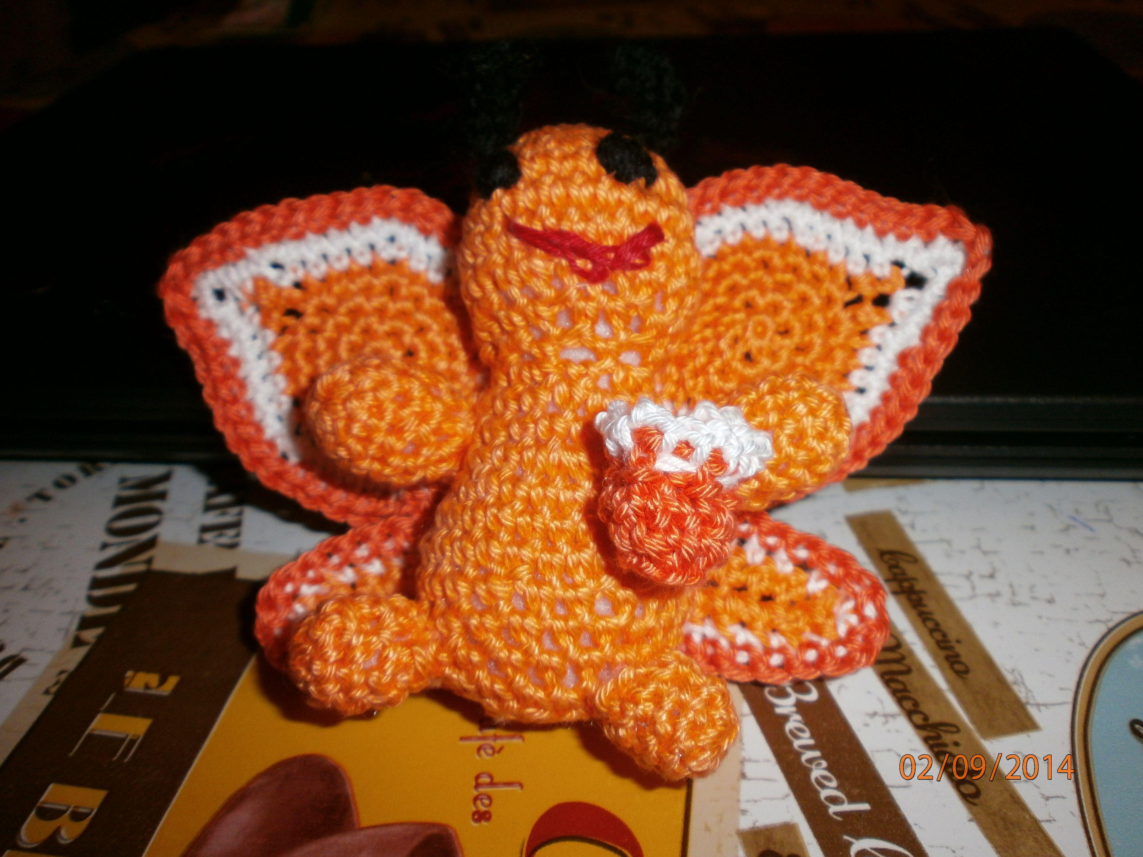 gehäkelter Schmetterling